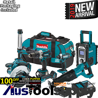 Makita Lxt 18V 5Ah Lithium Cordless 7 Combo Drill Saw Kit  2017
