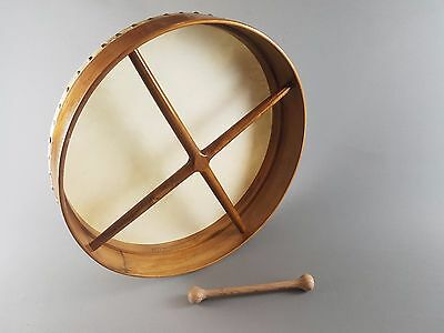 Lovely Vintage Plain Skin Bodhrán Bodhran Drum and Tipper Beater FREE DELIVERY
