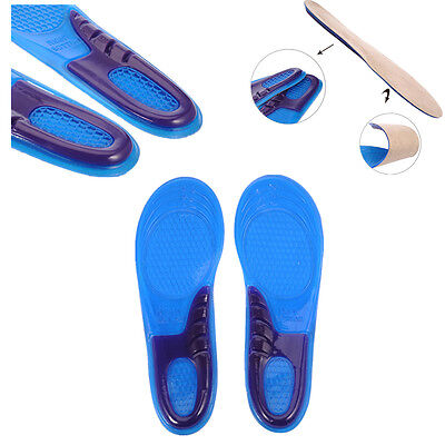 Women Men Silicone Gel Insole Orthotic Arch Support Massaging Sport Shoe Run Pad