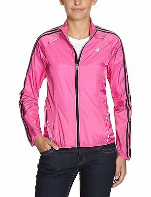 adidas Womens Response Size 14 Wind Jacket Lightweight Pink Coat Full Zip