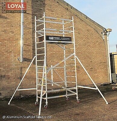 Trade King 730 Up to 9.65m Aluminium Scaffold Tower FREE Next Day Delivery