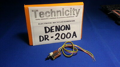 Denon  Dr - 200A -  Dc In Button Board  - Placa Boton De Encendido   - Tested