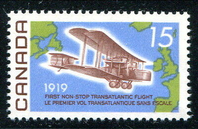 MNH 15c Alcock-Brown Flight on F paper #494i (Lot #rn72)