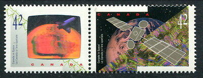 MNH Canada Space Hologram DOUBLE VARIETY #1442vi (Lot#rn56k)