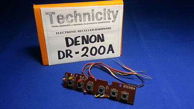 Denon  Dr - 200A -  Button Panel Board - Placa De Botones   - Tested