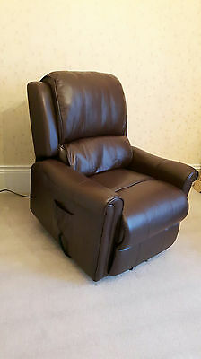 Rise and recline electric leather armchair