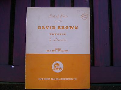 David Brown Rowcrop Cultivator List Of Parts