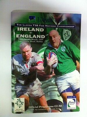 Ireland V Wales 1999 Rugby Programme