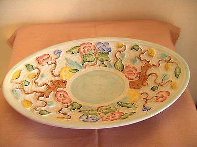 A Lovely Vintage H J Wood Oval Bowl In The Indian Tree Pattern