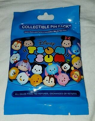 Disney Pins Tsum Tsum  MYSTERY PIN PACK (5) 1st series Sealed AUTHENTIC