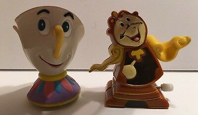 Cogsworth Clock Chip Beauty And The Beast Disney Burger King toy Wind Up Vintage