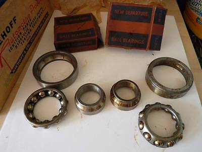 Pair New Departure 909032 Front  Wheel Bearing 1929-1942 Chevy & Comm. Buick USA