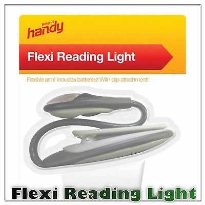 Keep it Handy Portable Flexi Reading Light Flexible Arm With Clip Attachment