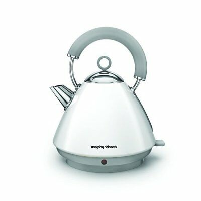 Morphy Richards Accents 1.5L Cordless Stainless Steel Pyramid Kettle White