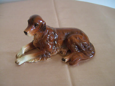 A Lovely Hand Painted Red Setter Dog Figurine