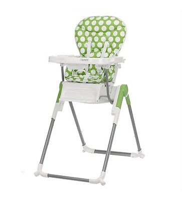 Obaby Nanofold Reclining & High Low Highchair Lime - ultra slim store, easy fold