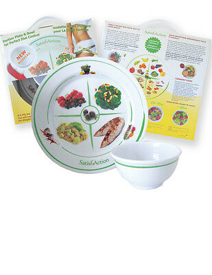 Portion Plate & Bowl for Perfect Diet Control - Visual Weight Loss System