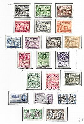 Turks&Caicos Islands stamps 1938 SG 194-205+210-216  MLH  VF