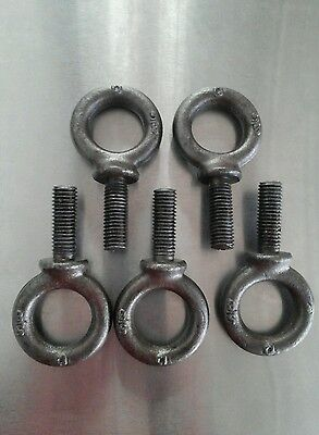 5/8-11 x 1 3/4 Eye bolt forged steel, 5pcs.