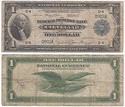 1918 $1 Note Low 3 Digit Serial # Cleveland District FR 718 Very Good