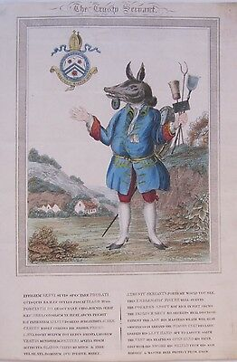19th CENTURY, Coloured Engraving, 'THE TRUSTY SERVANT'