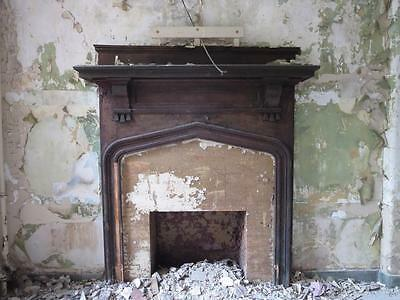 1905 Overbrook Insane Asylum Original Fireplace Mantel Gothic Cedar Grove NJ