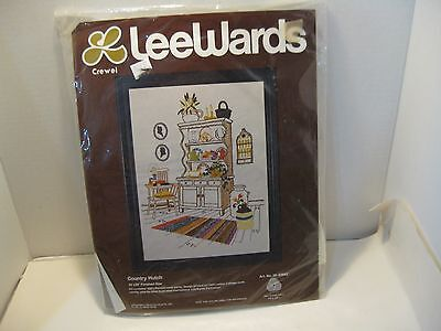 Vintage Crewel Embroidery Kit-Country Hutch By Leewards