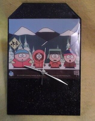 South Park Hand Made? Rare Battery Operated Wall Clock Cartman Kenny WORKS 1997