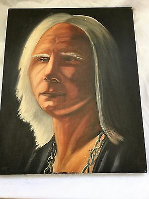 Original Painting by listed artist of  Johnny Winter  singer