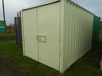 12' x 8' anti vandal storage container shipping portable building site store