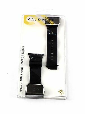 Case Mate Facets Smartwatch Band for Apple Watch 38mm Black CM032783-116yc