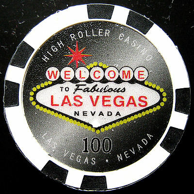 Welcome to Las Vegas poker chip VALOR $100 (#**/**)
