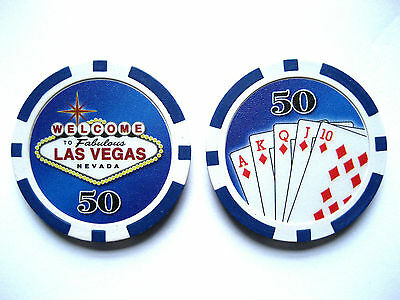 Welcome to Las Vegas poker chip $50 (#237**/**)
