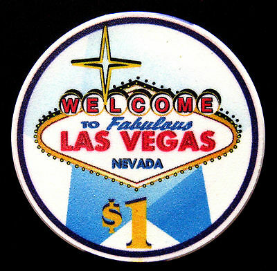 Welcome to fabulous Las Vegas,Nevada  Poker chip $1 (#*/**)
