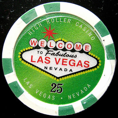 WELCOME TO LAS VEGAS  Poker chip valor $25 (#8580/81*/**)