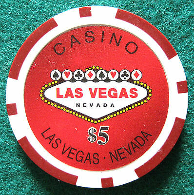 Welcome to Casino Las Vegas, Ficha / Chip $5 (#172/244**)