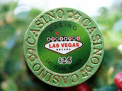 Welcome to Casino Las Vegas, Ficha / Chip $25 (#843/2**)