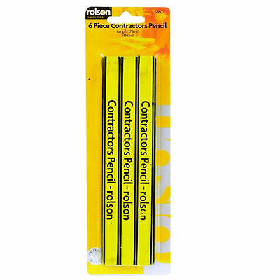 6 Piece Carpenters Contractors Pencil Builders Construction Pencils Rolson 56602