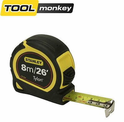 Stanley 8m/26ft Pocket Tape Measure with Tylon Blade 30-656 0-30-656