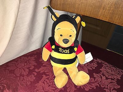 Disney Store Collectable Winnie The Pooh Soft Toy Dressed As A Bumble Bee