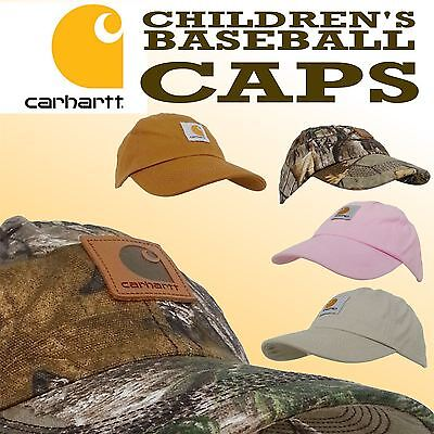 Carhartt Children's Junior Choose From Camo Or Brown Style Baseball Caps
