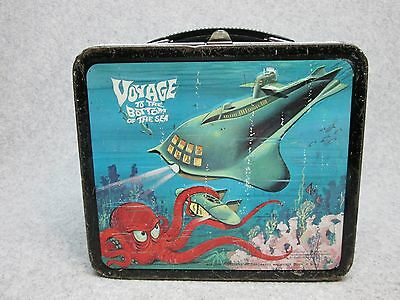 1967 VOYAGE To The BOTTOM Of The SEA Sci-Fi  Tv LUNCHBOX Submarine,Octopus C#7.5