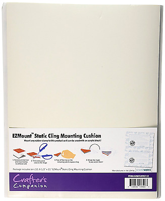 "Crafter's Companion EZMOUNT02-10Mount Static Cling Mounting Cushion, 8.5"" x 11"","