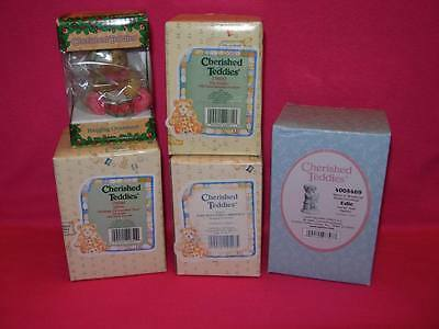 Cherished Teddies LOT OF 5 CHRISTMAS PIECES includes EDIE