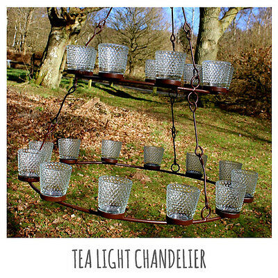 Tea Light Chandelier (double tier)