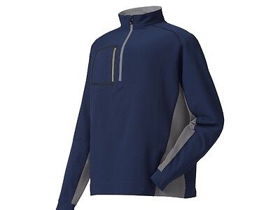 New! FootJoy Windshell Mid Layer Pullover - M,L, - Navy/Grey