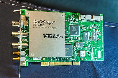 National Instruments PCI-5102, Dual Channel,  20 MS/s digitizer, Scope