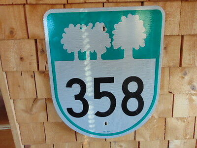 Prince Edward Island Route 358 Reflective Road Sign