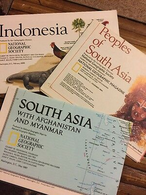 National Geographic Maps/Inserts Indonesia South Asia 3 Maps/Inserts