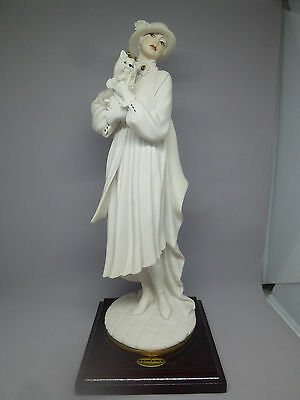Giuseppe Armani Figurine Florence  Lady With Yorkshire Terrier Rare 0486F